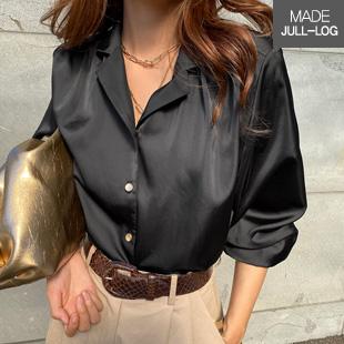 Raffle Button Silky Shirt