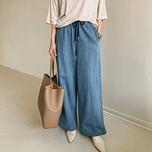 Blanka Wide denim pants (Washing Blue)