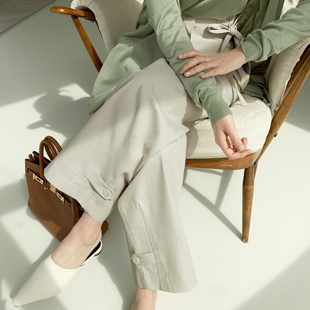 Madilla Pocket Pants (light beige)